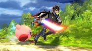 Kirby running with bayonetta by user15432-db7q7o7