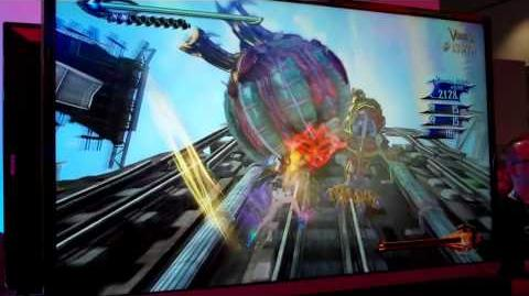 Bayonetta 2 - Plane to Train to Skyscrapers Gameplay (Wii U - E3 2014)