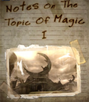 Notes On The Topic Of Magic I