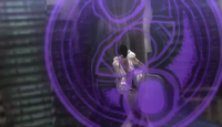 Bayonetta using Dark Arts magic