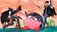SSB4 - Bayonetta and Kirby