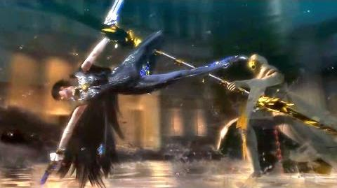 Dark Witch vs White Mage Epic Fight. Cereza and Lumen Sage (Bayonetta 2)