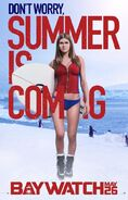 Baywatch Summer Is Coming character Summer poster