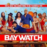 Baywatch Thanksgiving Day promo
