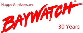 Baywatch 30th Anniversary Logo