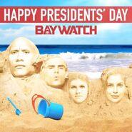 Baywatch Presidents Day promo