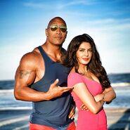 Dwayne Johnson and Priyanka Chopra