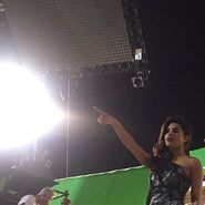 Priyanka Chopra on Set