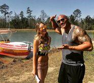 Dwayne Johnson and Belinda