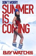 Baywatch Summer Is Coming character Stephanie poster