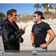 David Hasselhoff and Zac Efron onset