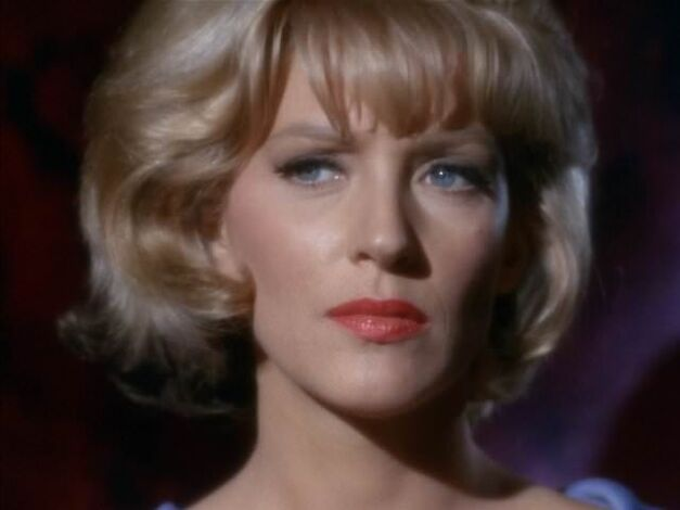 Majel Barrett as Nurse Chapel on Star Trek
