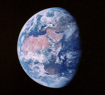 Earth from Moon view