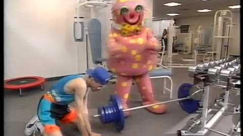 Mr Blobby Keeps Fit