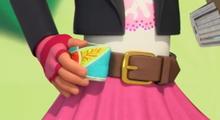 Bitz holding her Belt