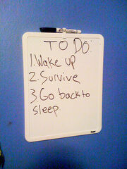 My son explains life with this simple to-do list.