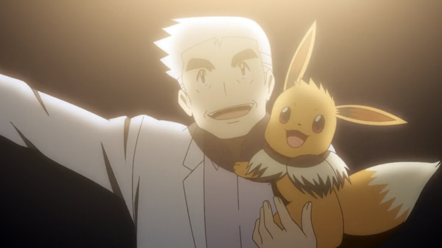 Professor Oak and Eevee (Pokemon)