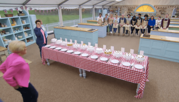 great-british-baking-show-season-3-episode-1-walnut-cake-table