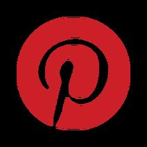 Pinterest badge red