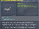 Oerlikon Millennium Cannon