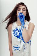 Bea bluepaint