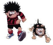 Dennis and Gnasher walking (1980s)