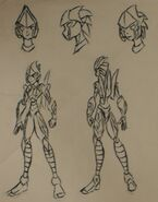 Wind-Rider character reference BnW