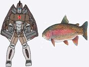Beast Wars Troutswimmer in Both Modes