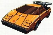 Sunstreaker Supercharged Lamborghini Countach LP500S Mode