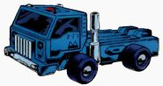 Pipes Cab-Over-Engine Semi Truck Cab Mode
