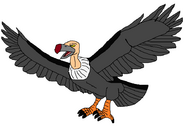 Flying and Squawking Vulture
