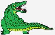 Attacking Crocodile
