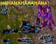Banshea killed by Terrorsaur