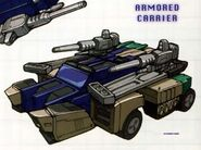 Sixshot Armored Car Mode