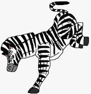 Zebra About To Kick
