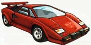 Sideswipe Lamborghini Countach LP500-2 Mode