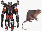 Beast Wars Carzap in both modes