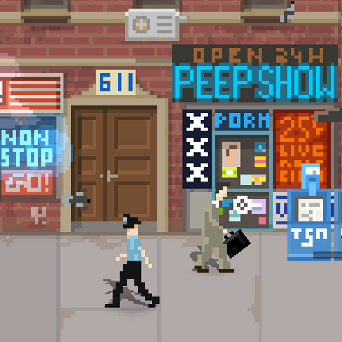 Jack patrolujący ulicę