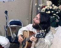 John rehearses Give Peace A Chance
