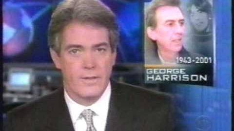 CBS Evening News - on the Death of George Harrison, Nov. 2001