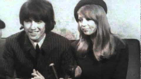Beatles member, George Harrison and Patti Boyd in an interview on their wedding