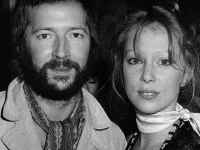 Pattie Boyd With Her Second Husband Eric Clapton