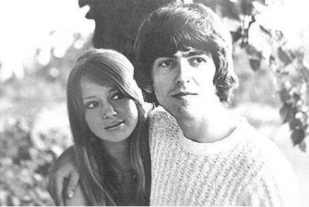 George And Pattie Boyd With Her First Husband Harrison