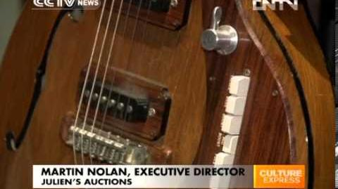 Beatles guitar to be auctioned