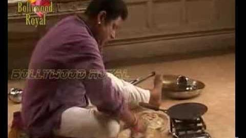 On location of TV Serial 'Rang Rasiya' Paro making chappati 1