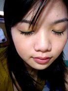Azure blue close eye