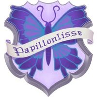 Papillonlisse crest and banner