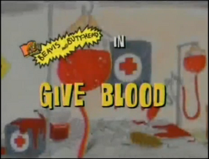 Give Blood Title Card