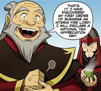 Iroh in a comic
