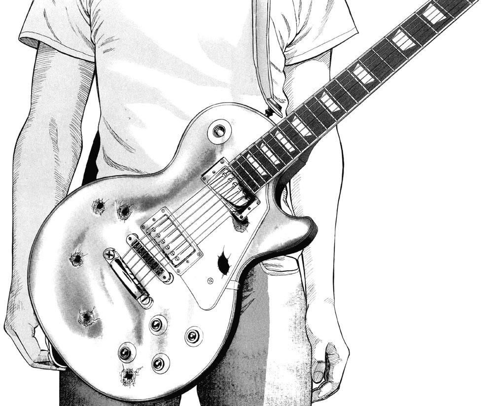 картинки гитарист рисунок люблю это блюдо
